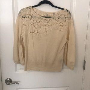 Anthropologie Crochet Sweater